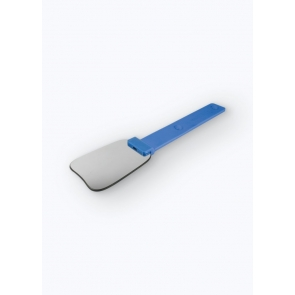 Silicone coated mirror handle blue